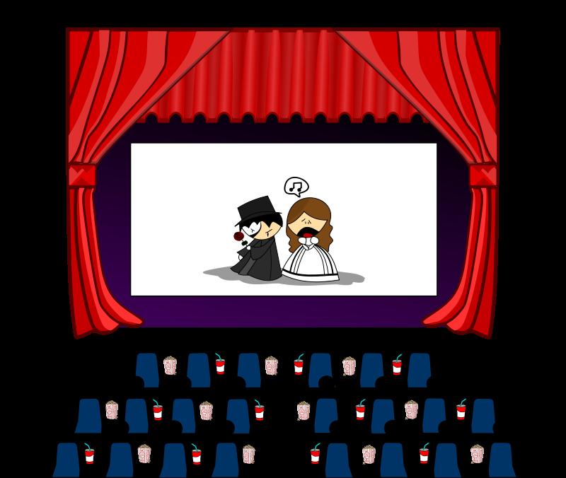 picture black and white stock Movie Theatre Clipart