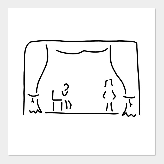 image royalty free library Actor stage . Theatre drawing line