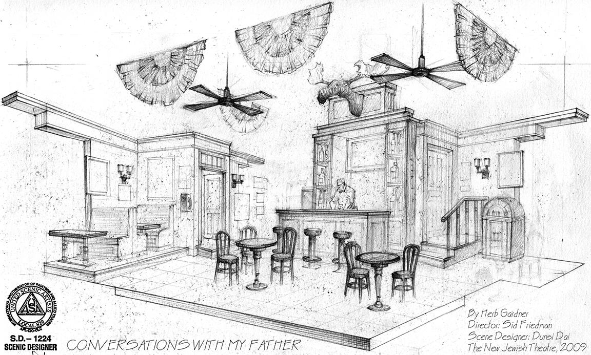 free download Theatre drawing scene. Portforlioscenesketches