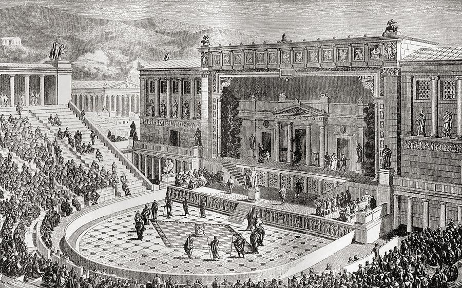 clip transparent download The of dionysus athens. Theatre drawing vintage