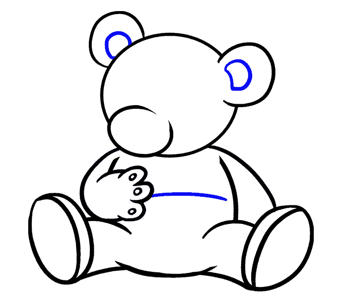 clip freeuse Teddy Bear Drawing Step By Step at GetDrawings