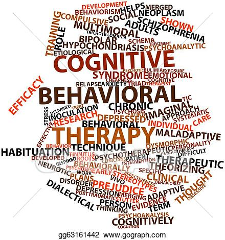 clip art freeuse stock Stock illustration behavioral . Therapy clipart cognitive thinking.
