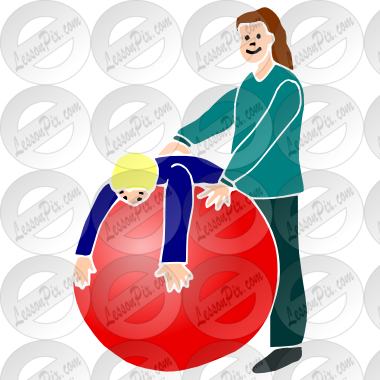png library library Therapy clipart therapy ball. Stencil for classroom use.