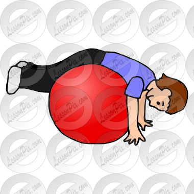 graphic free library Therapy clipart therapy ball. Picture for classroom use.