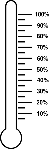 graphic black and white download Thermometer clipart percentage. Percent clip art at