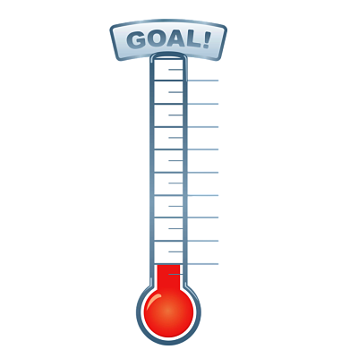 banner free thermometer transparent fundraising #116264999
