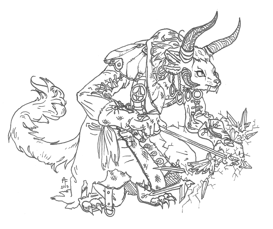 clip art library download Unfathomed charr commission by. Thief drawing