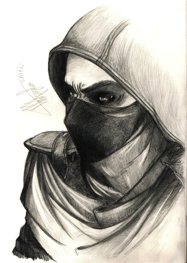 clip freeuse download Pencil sketch colorful realistic. Thief drawing art
