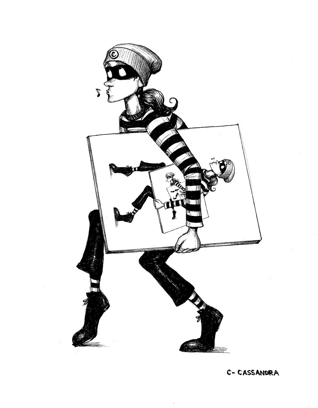 png library library Thief drawing. Of a stealing the