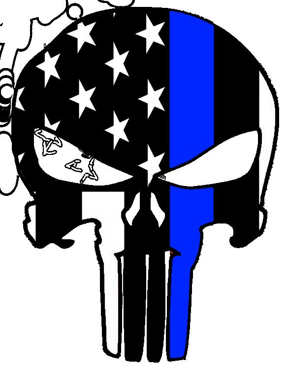 download Thin Blue Line Punisher Sticker