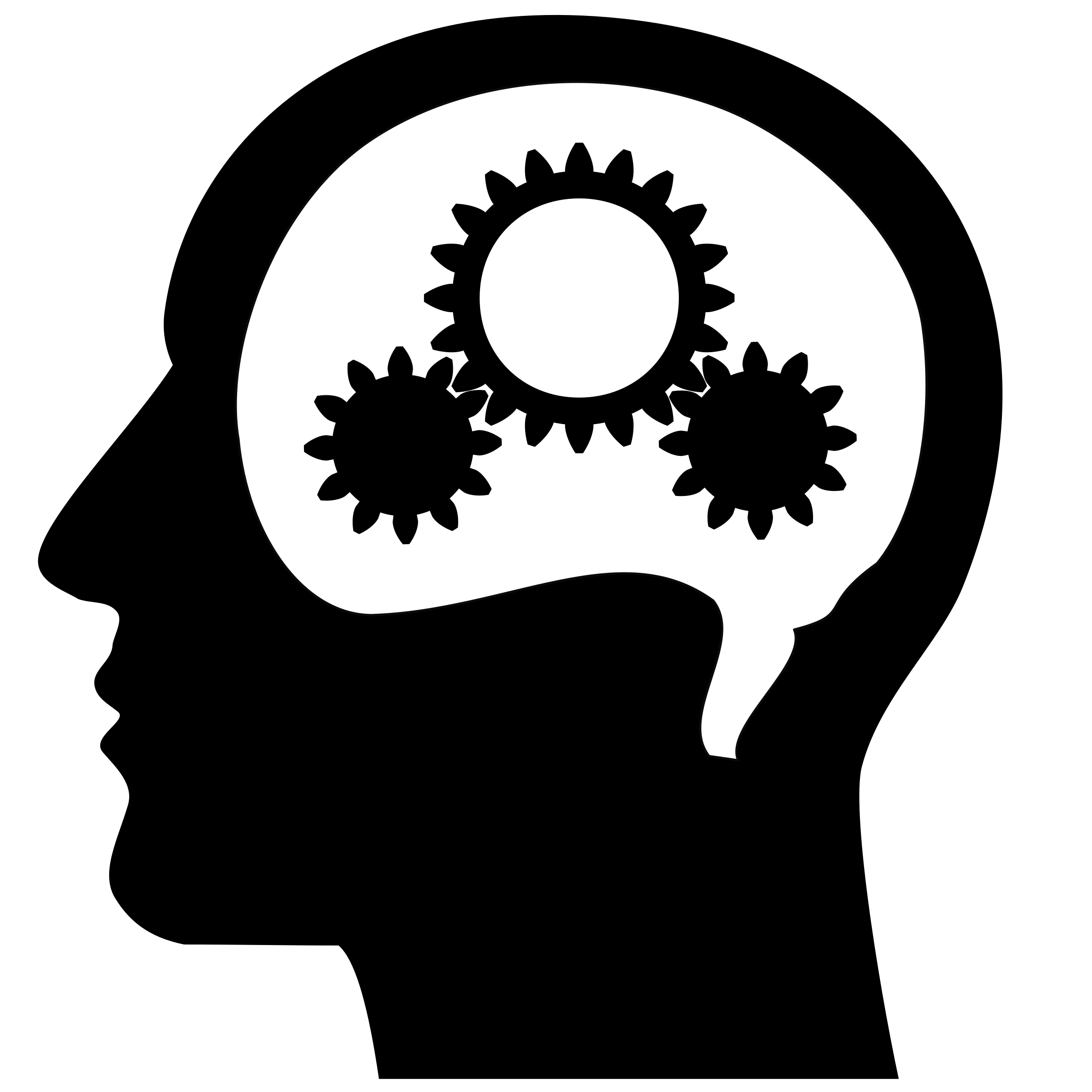 vector library Thinking Brain PNG HD Transparent Thinking Brain HD
