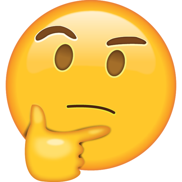 picture freeuse download Thinking Face Emoji