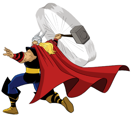 svg black and white Thor clipart. Hammer swing disney clip