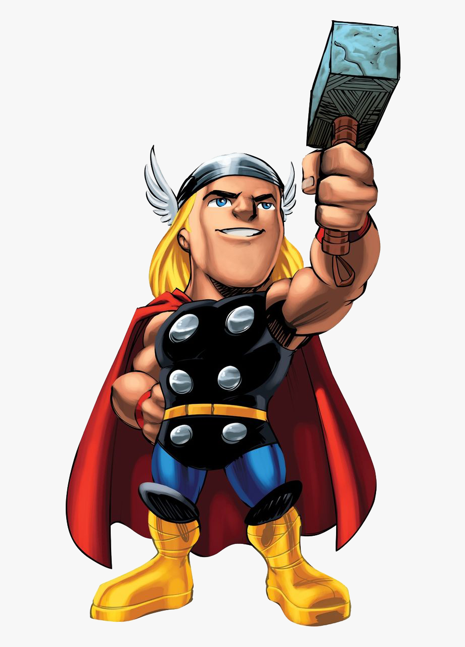 svg library download Marvel super hero squad. Thor clipart