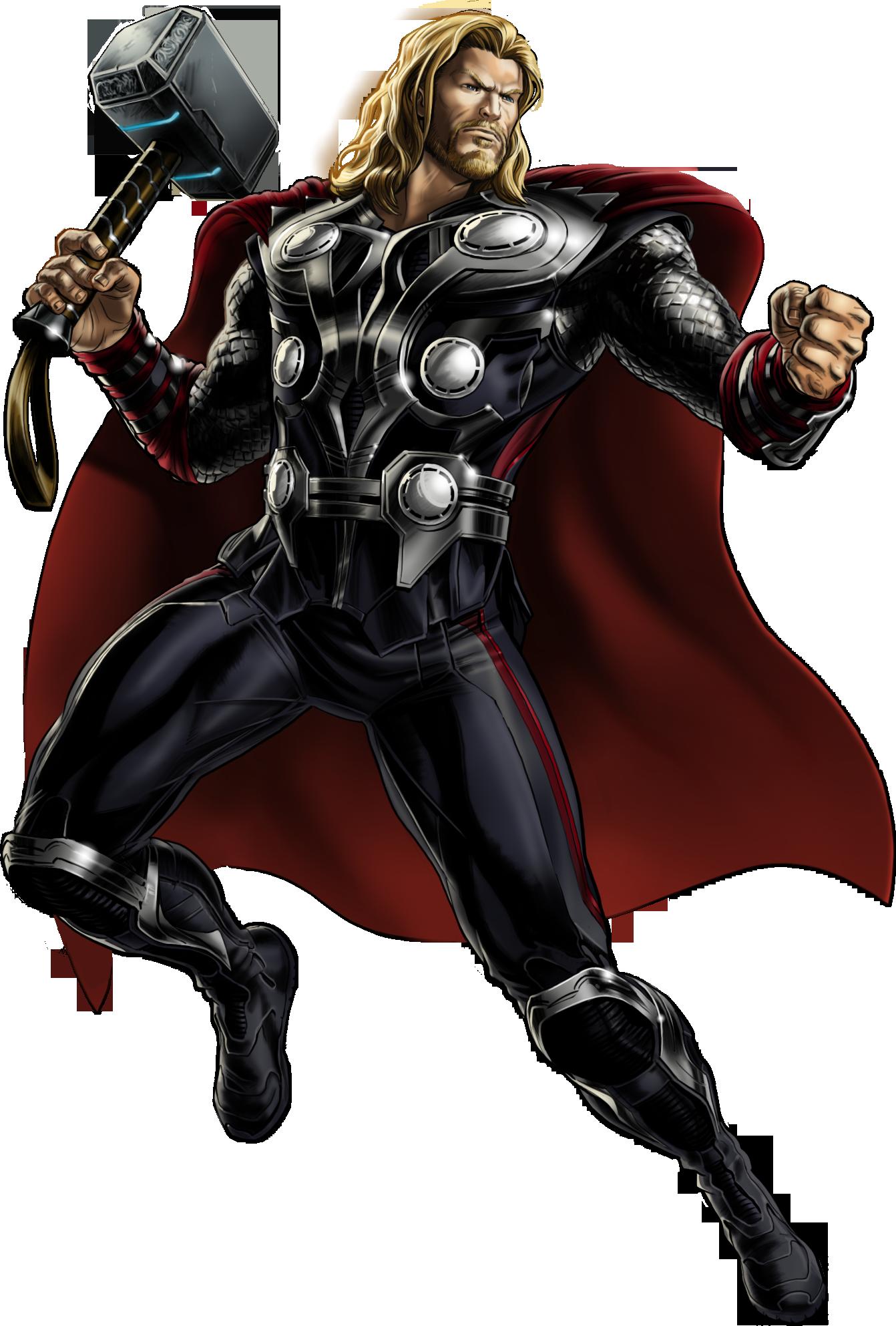 vector freeuse Nintendo all stars vs. Thor clipart avengers alliance