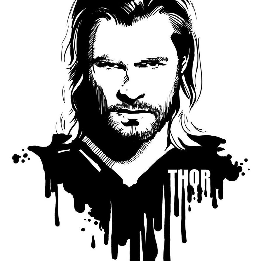 png transparent library Thor clipart black and white. Portal