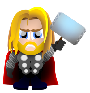 jpg transparent stock Free images at clker. Thor clipart cartoon character