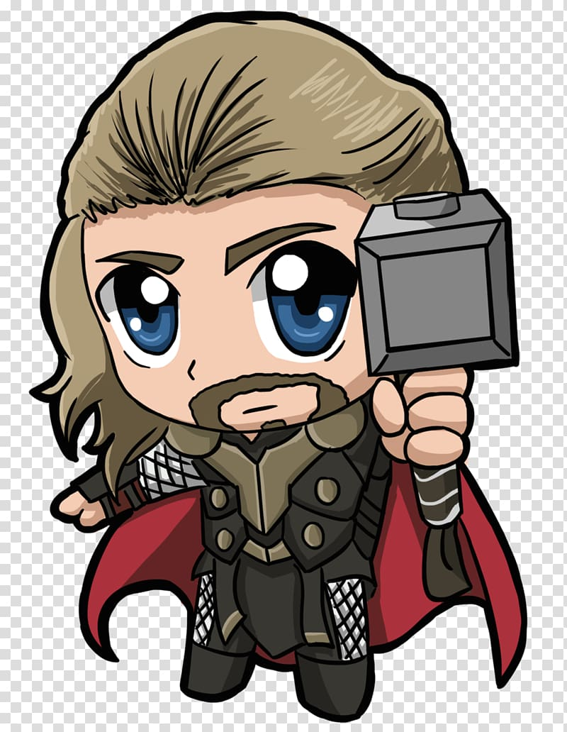 royalty free Marvel illustration chibi the. Thor clipart cartoon character