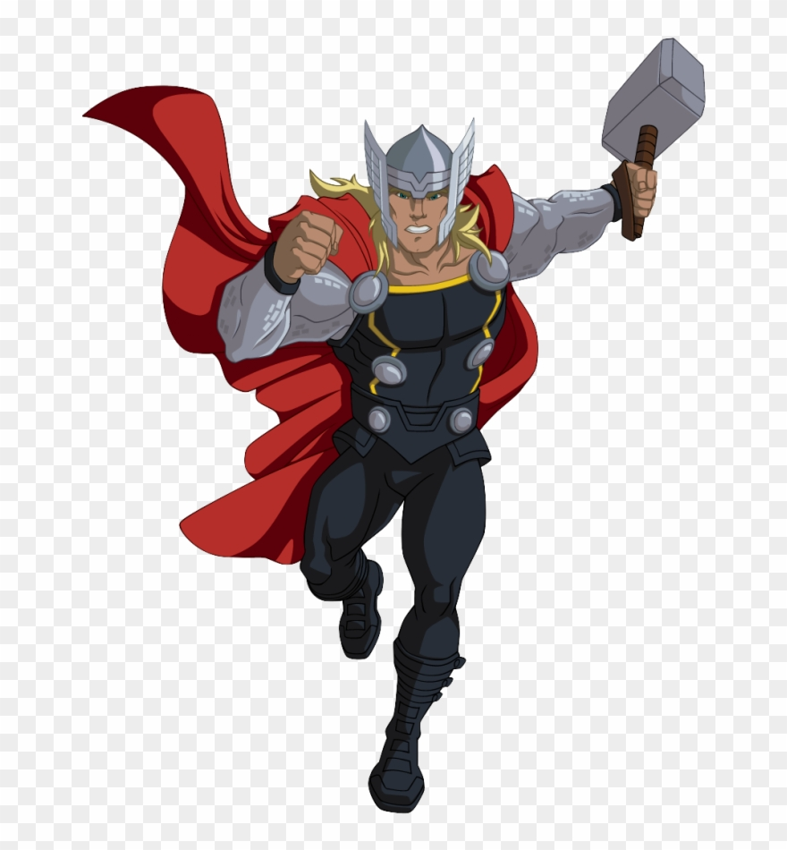 png library Png avengers assemble drawing. Thor clipart cartoon character