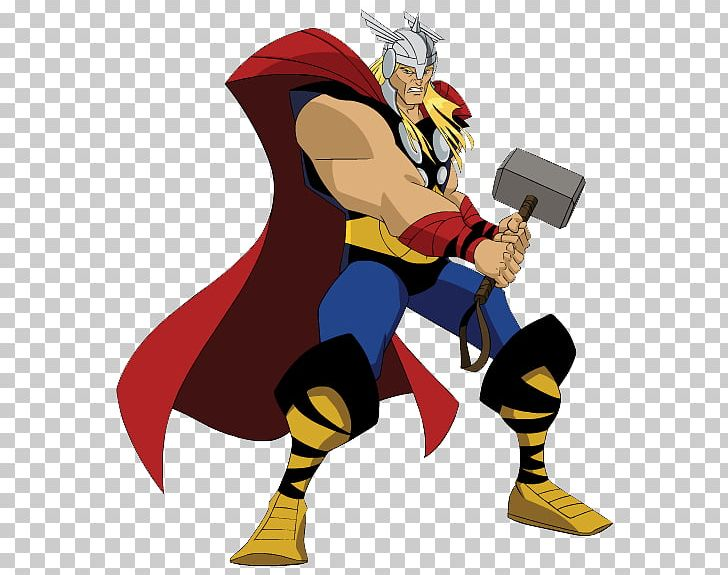 black and white stock Thor clipart cartoon character. Superhero animation png art