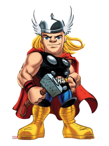 clip freeuse stock Thor ready for fight clipart png