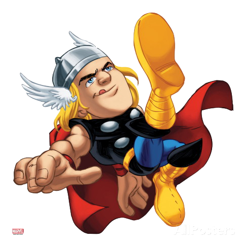 graphic library download Cool marvel . Thor clipart cartoon character