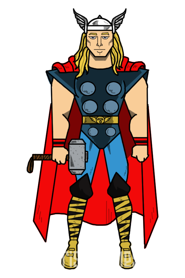 freeuse Drawing superman thor. Clipart classic pencil and