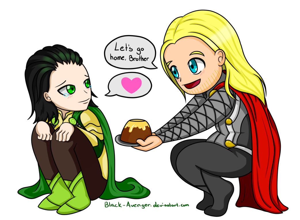 banner freeuse And chibi by black. Thor clipart loki