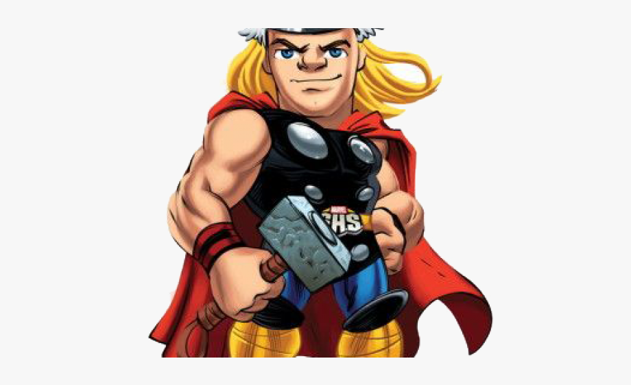 banner royalty free library Thor clipart super hero squad. Marvel png free cliparts