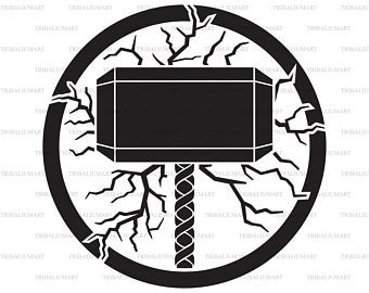 picture library Etsy . Thor clipart svg