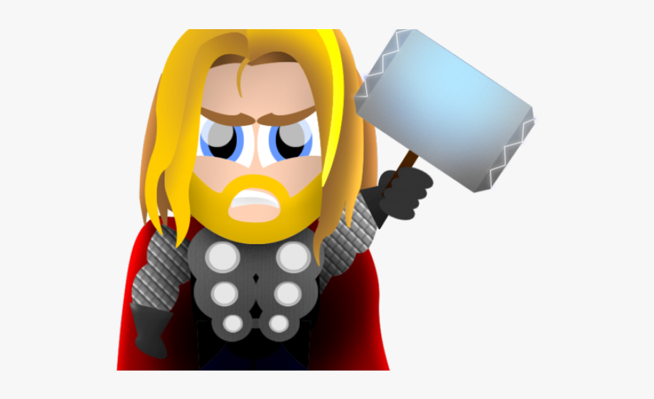 image black and white stock Thor clipart svg. Tv series clip art