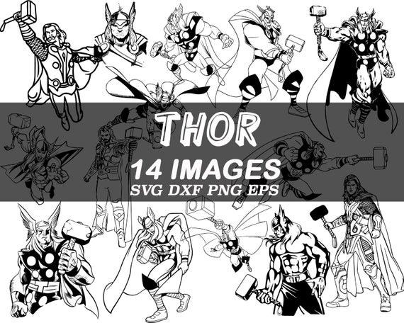 free stock Thor clipart svg. Marvel avengers super hero