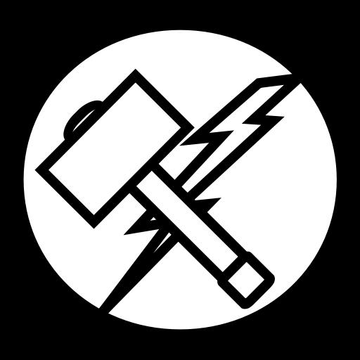 vector transparent Thor clipart thor logo. Hammer avangers marvel icon