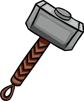graphic library Hammer png clipartix thorhammer. Thor clipart thor logo.