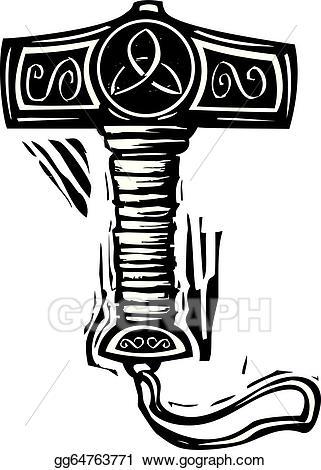 svg free stock Vector s mjolnir illustration. Thor clipart thor's hammer