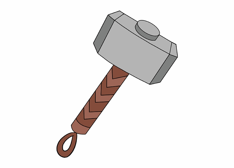 jpg download Thor clipart thor's hammer. How to draw s
