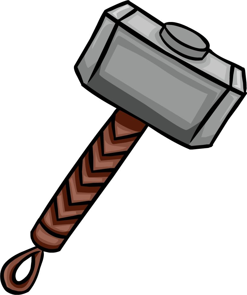 svg stock Thor clipart thor's hammer. Mjolnir club penguin wiki