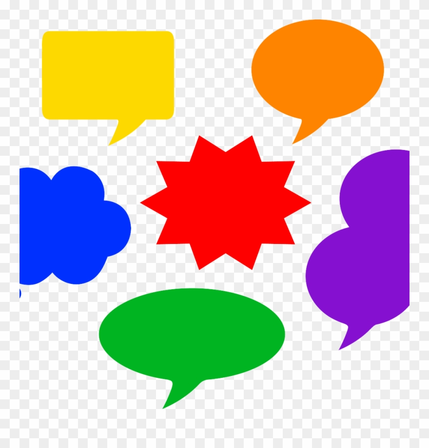 royalty free download Thought clipart colourful. Coloured speech bubbles pinclipart