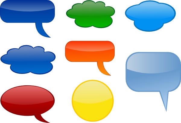 banner black and white library Thought clipart colourful. Speech bubbles colored clip