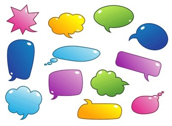 png black and white Speech bubbles clip art. Thought clipart colourful