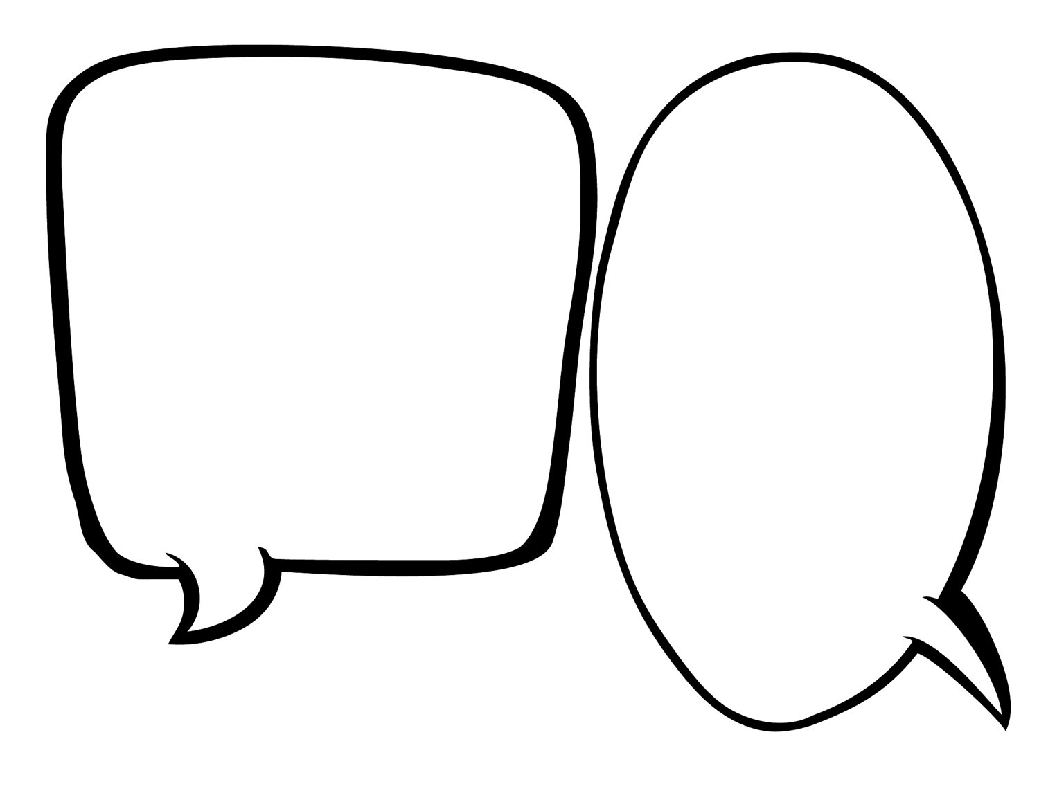 vector freeuse library Free speech bubble printable. Thought clipart convo