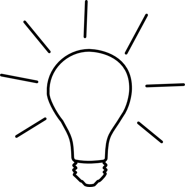 clip art royalty free library Thought clipart lightbulb. Idea light bulb clip