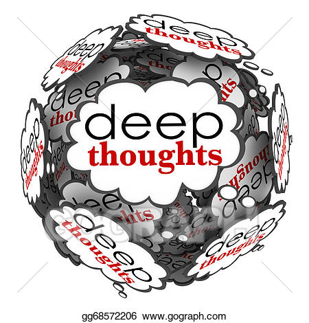 clipart free Thought clipart profound. Stock illustration deep thoughts