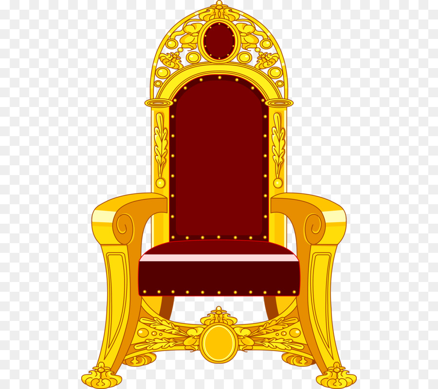 picture Yellow background transparent clip. Throne clipart.
