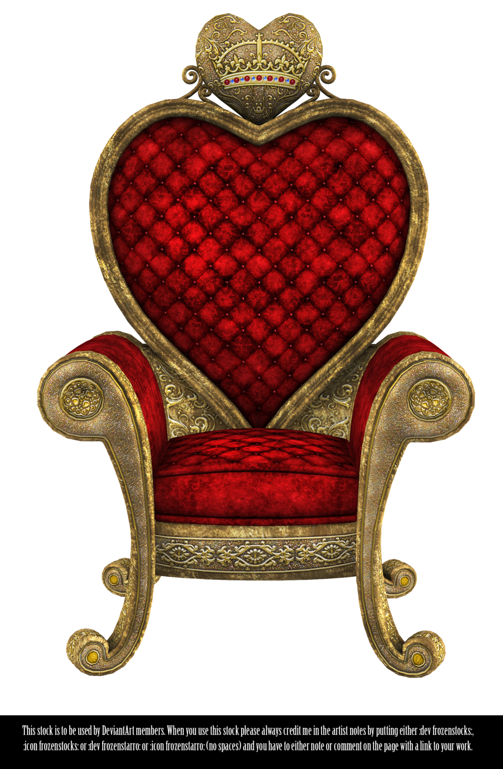 jpg Queen of Hearts Throne Render