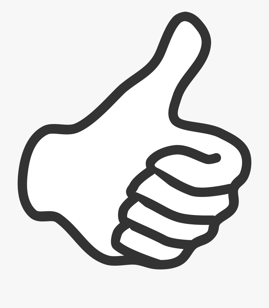 svg black and white library Of thumbs up thumb. Great clipart black and white