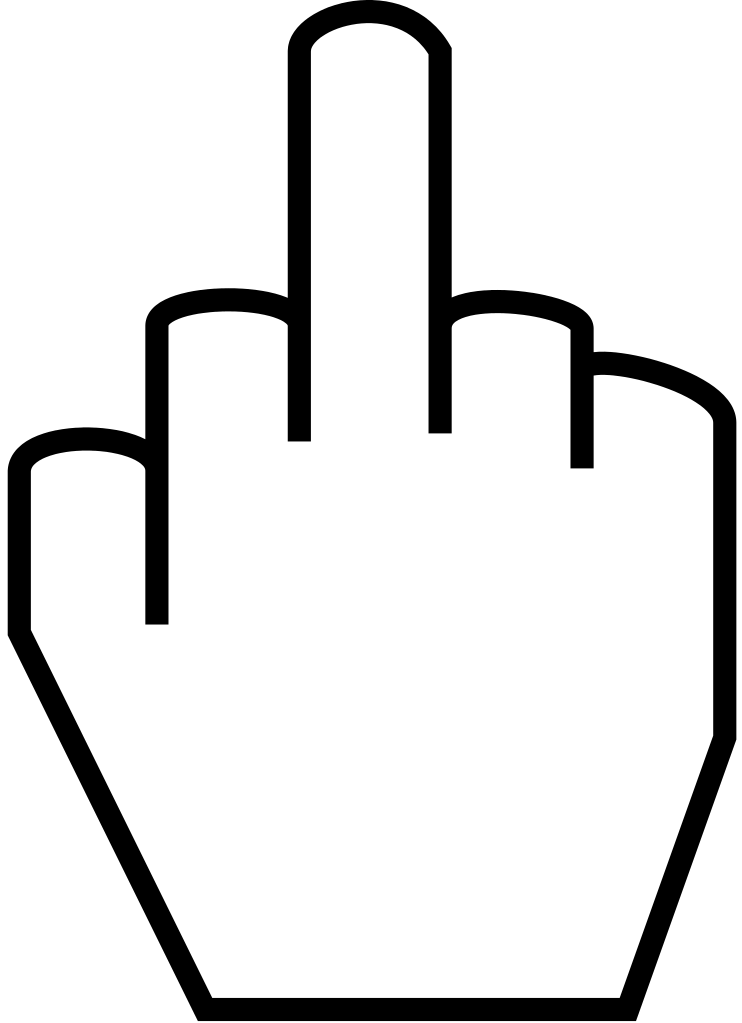 clip freeuse File the finger svg. Thumbs clipart middle emoji