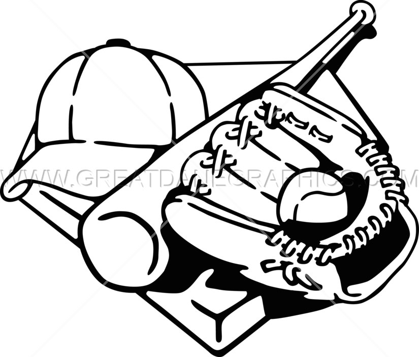 svg royalty free Baseball Players Equipment