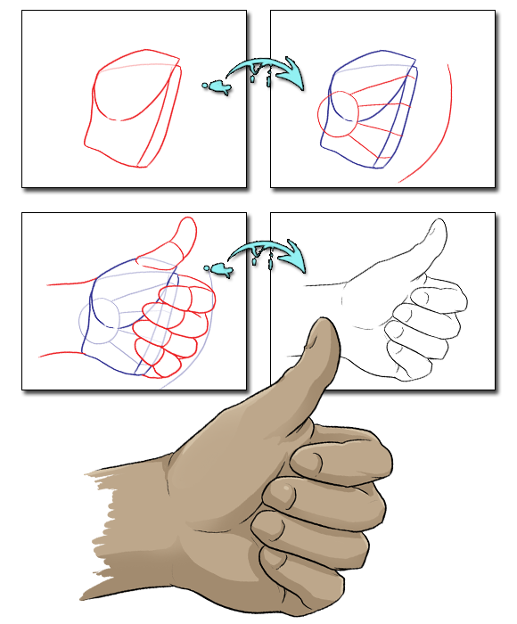 vector download thumb drawing reference #104780246