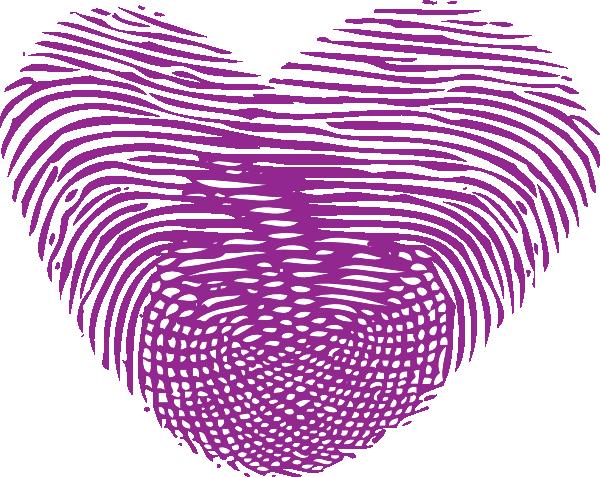 svg transparent library Single Purple Thumbprint Heart Clip Art at Clker
